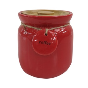 Red Hang Tag Coffee Canister