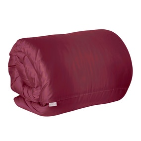 Dorma 350 Thread Count Claret Plain Dye Duvet Cover