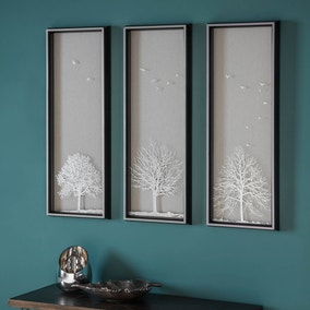 Autumn Tree Set of 3 Framed Wall Art Prints