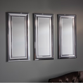 Bowen Chrome 92x16cm Trio of Wall Mirrors