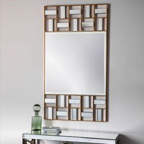 Carlton Gold 132x74cm Wall Mirror