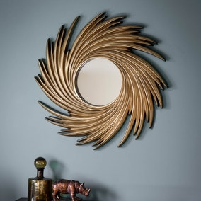 Claygate Gold 100cm Wall Mirror