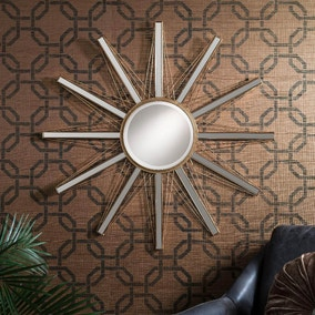 Flaire Starburst Gold 91cm Wall Mirror
