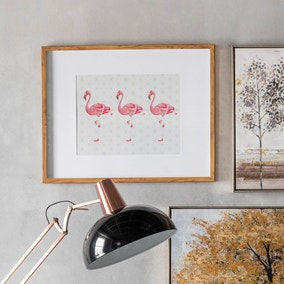 Flamingos Crossing Framed Print