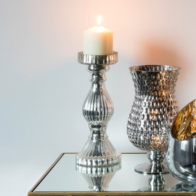 Baratti Set of 2 Silver Candle Holders