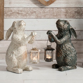 Laura Bronze Rabbit Tealight Holder