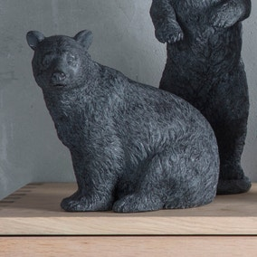 Orion Black Crouching Bear Ornament