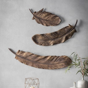 Pluma Set of 3 Feather Wall Ornaments