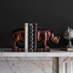 Raynard Set of 2 Rhino Bookends