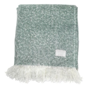 Chic Duck Egg Faux Mohair Throw