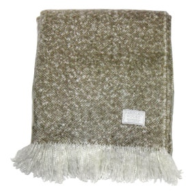 Chic Taupe Faux Mohair Throw