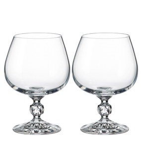 5A Fifth Avenue Pack of 2 Crystal Cognac Glasses