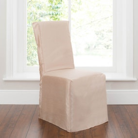 Pack of 2 Gold Faux Silk Chair Covers