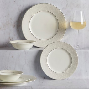5A Fifth Avenue Grace Silver 12 Piece Dinner Set