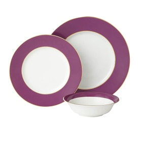5A Fifth Avenue Hamilton Plum 12 Piece Dinner Set