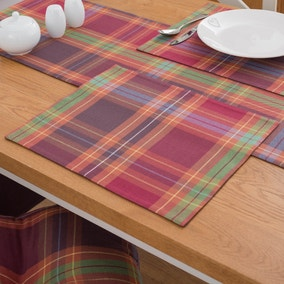 Pack of 2 Rustic Check Placemats