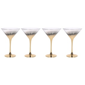 5A Fifth Avenue Pack of 4 Gold Ombre Martini Glasses