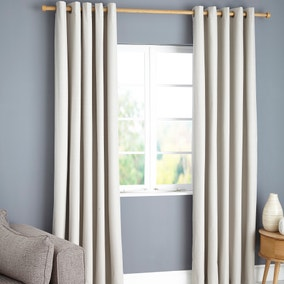 Payson Natural Blackout Eyelet Curtains