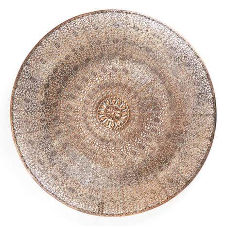 Exceptionnel Silver Moroccan Dish Wall Art