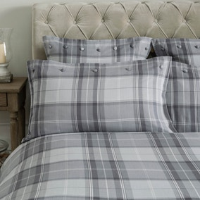 Dorma Sandringham Grey Housewife Pillowcase