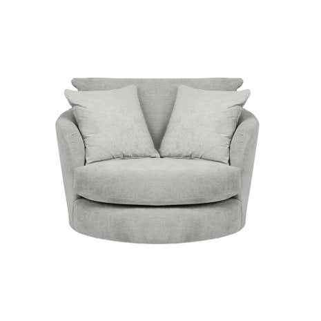 cosmo small swivel chair | dunelm