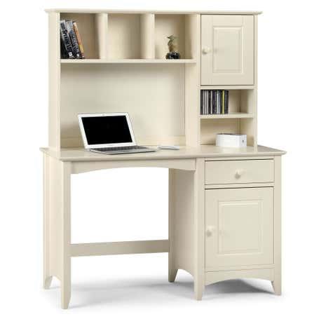 cameo stone white desk and hutch set