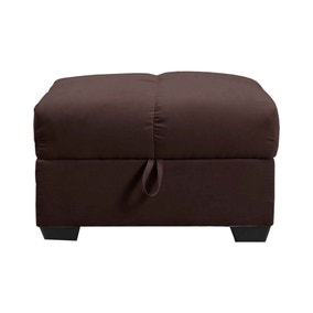 Cate Beige Fabric Ottoman