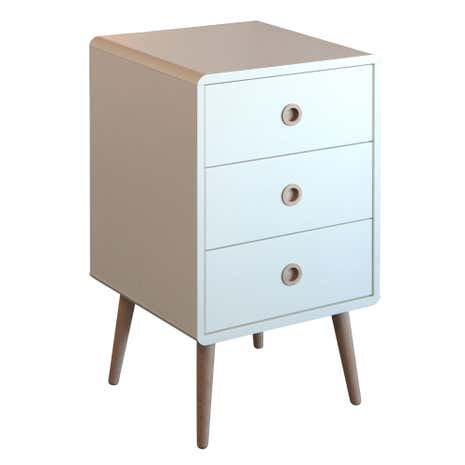 soft line 3 drawer bedside table dunelm. Black Bedroom Furniture Sets. Home Design Ideas