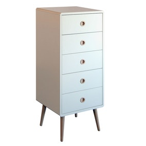 Soft Line 5 Drawer Tallboy