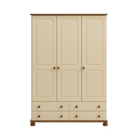 Colburn Cream Triple Wardrobe
