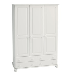 Colburn White Triple Wardrobe