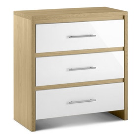 Stockholm White 3 Drawer Chest