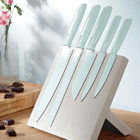 Candy Rose Duck Egg 5 Piece Magnetic Knife Block