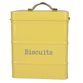 Housekeeper Yellow Biscuit Canister