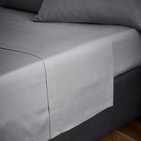 Fogarty Natural Cosy Grey Flat Sheet