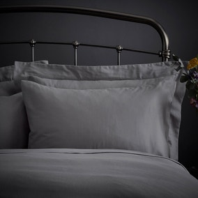 Fogarty Natural Cosy Grey Housewife Pillowcase Pair
