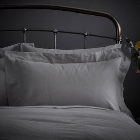 Fogarty Natural Cosy Grey Oxford Pillowcase