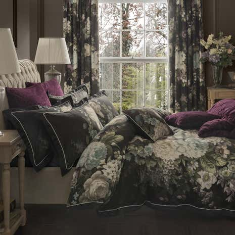 Dorma Burford Floral Blackout Pencil Pleat Curtains