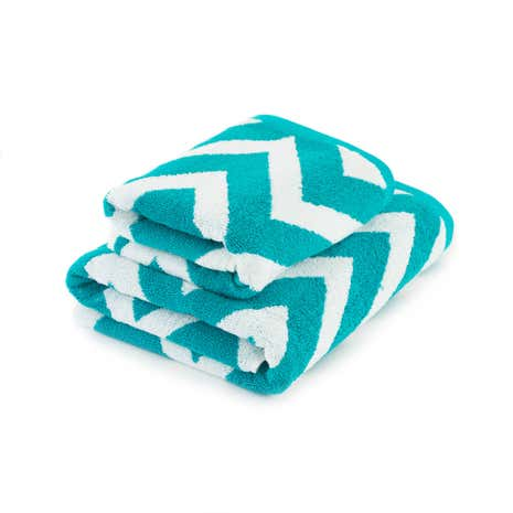 Chevron Teal Towel