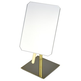 Free standing mirror colonial gold free standing mirror for Gold standing mirror