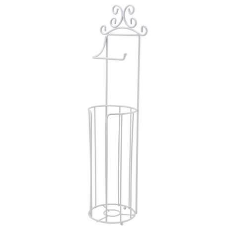 Maison White Free-Standing Toilet Roll Holder