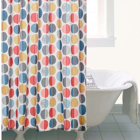 Elements Circle Shower Curtain