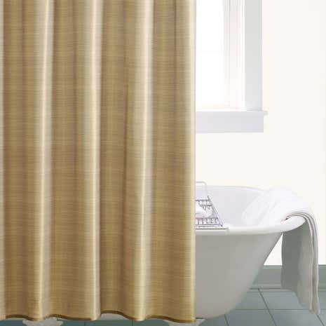 Gold Sparkle Shower Curtain