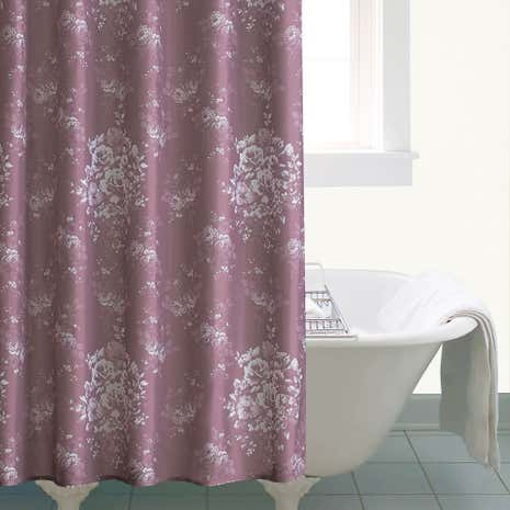 Laura Mauve Shower Curtain