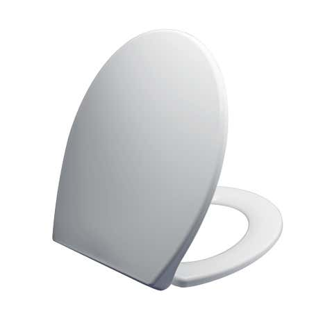 Thermoplast White Toilet Seat