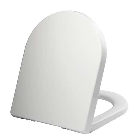 Thermoplast White D Shape Toilet Seat