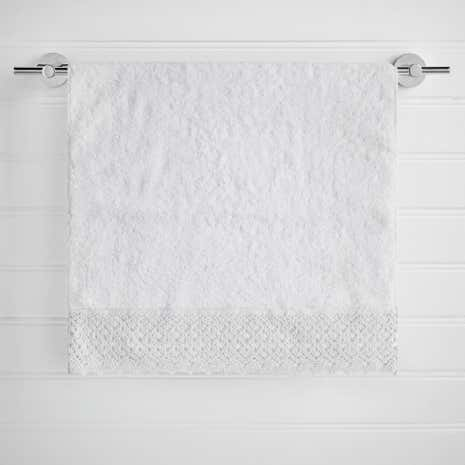 Maison White Lace Hand Towel