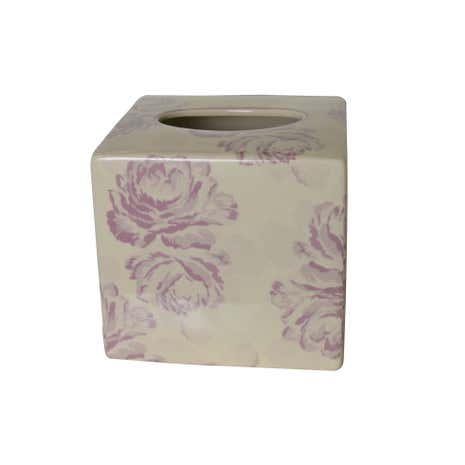 Laura Floral Tissue Box