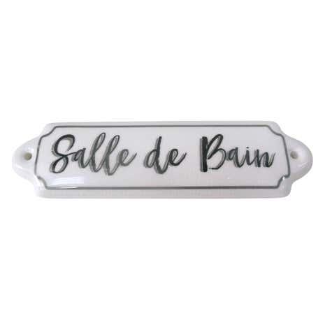 White salle de bain ceramic plaque dunelm for Plaque pvc salle de bain