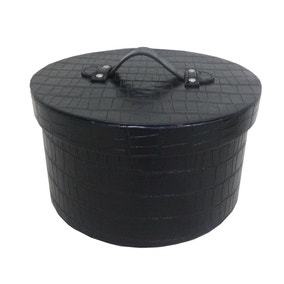 5A Fifth Avenue Mock Croc Black Storage Box